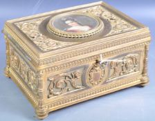 19TH CENTURY FRENCH PALAIS ROYALE GILDED ORMOLU CASKET