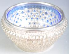 ANTIQUE INDIAN RAJ PERIOD SILVER DISH WITH LATER LINER