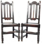 PAIR OF 17TH CENTURY ENGLISH OAK DINING / HALL CHAIR