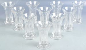 SET OF ANTIQUE VICTORIAN JELLY / FIRING GLASSES