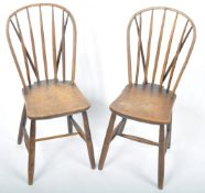 PAIR OF 19TH CENTURY BEECH AND ELM WINDSOR DINING CHAIRS