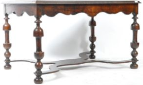 19TH CENTURY MAHOGANY AND SPECIMEN WOOD INLAID TABLE
