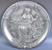 ANTIQUE 19TH CENTURY GERMAN WMF SILVER PLATED CHARGER PLATE