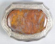 18TH CENTURY SILVER AND GILT MEMENTO MORI SNUFF BOX
