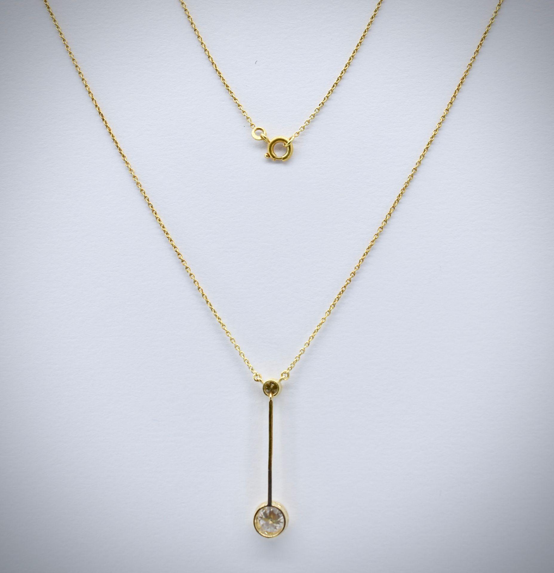 14ct Gold & Diamond Pendant Necklace - Image 3 of 5