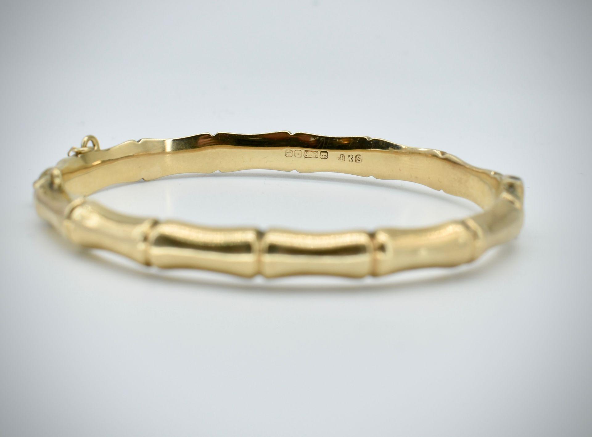 Hallmarked 9ct Gold Bangle - Image 2 of 5