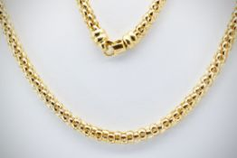 An 18ct / 750 marked Gold Snake Link Necklace Chain