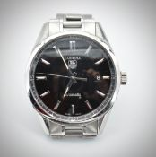 2011 Tag Heuer Carrera Calibre 6 Stainless Steel Automatic Wristwatch