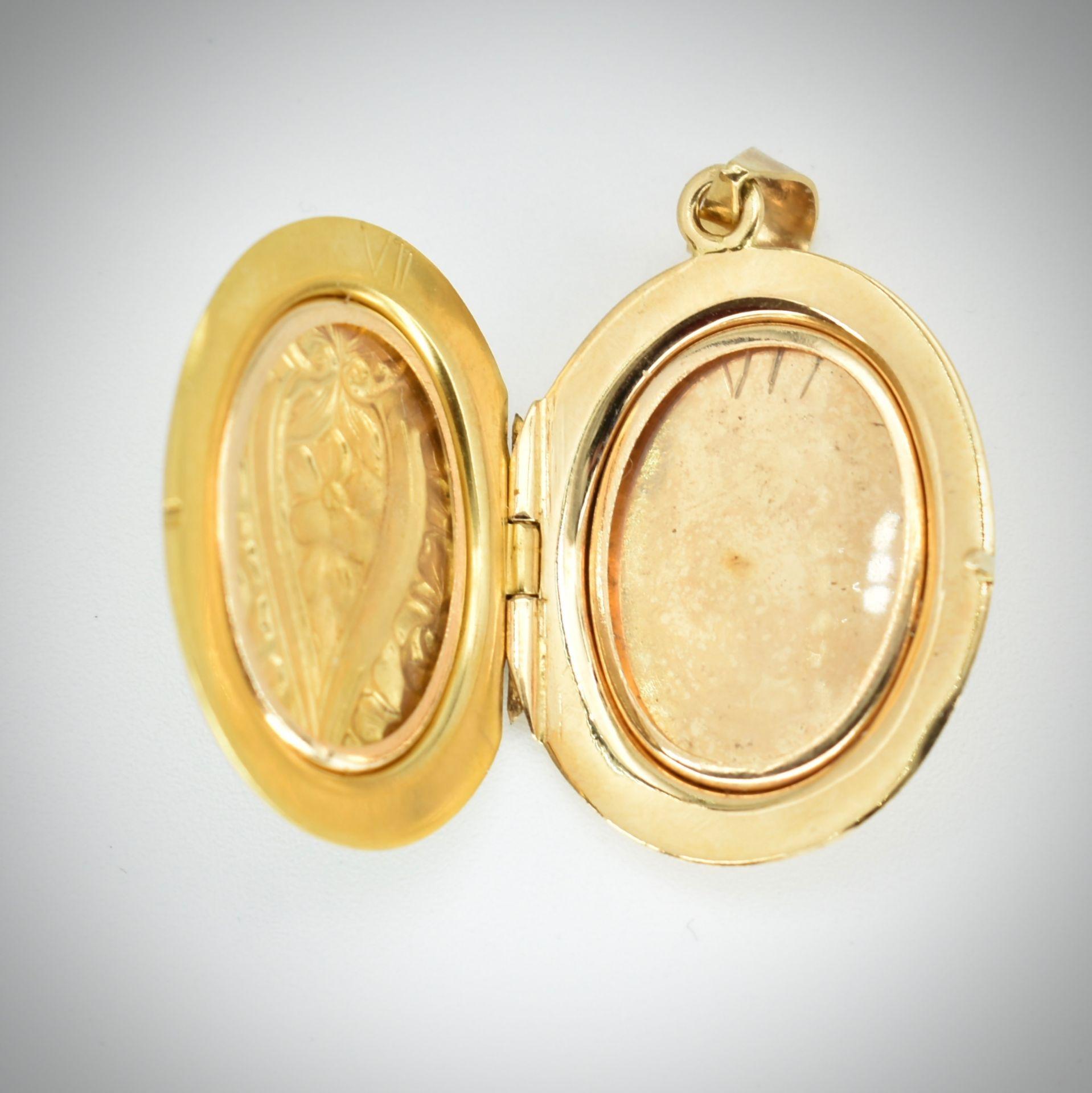 18ct Gold Locket - Image 3 of 3