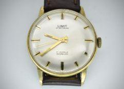 Mid Century Limit of Switzerland 17 Jewels Incabloc Wristwatch