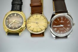 Collection of 3 Mid Century Watches Drimex, Fortis & Sekonda