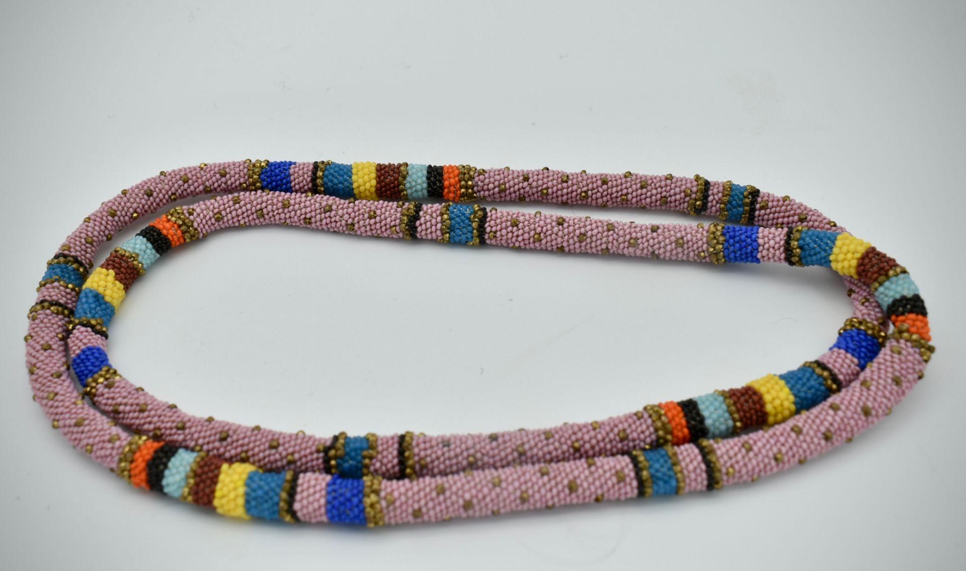 Wiener Werkstätte Micro-Beaded Necklace - Image 3 of 3
