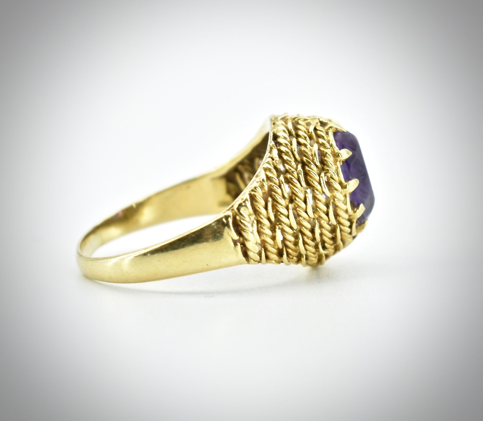 18ct Gold & Amethyst Ring - Image 4 of 7