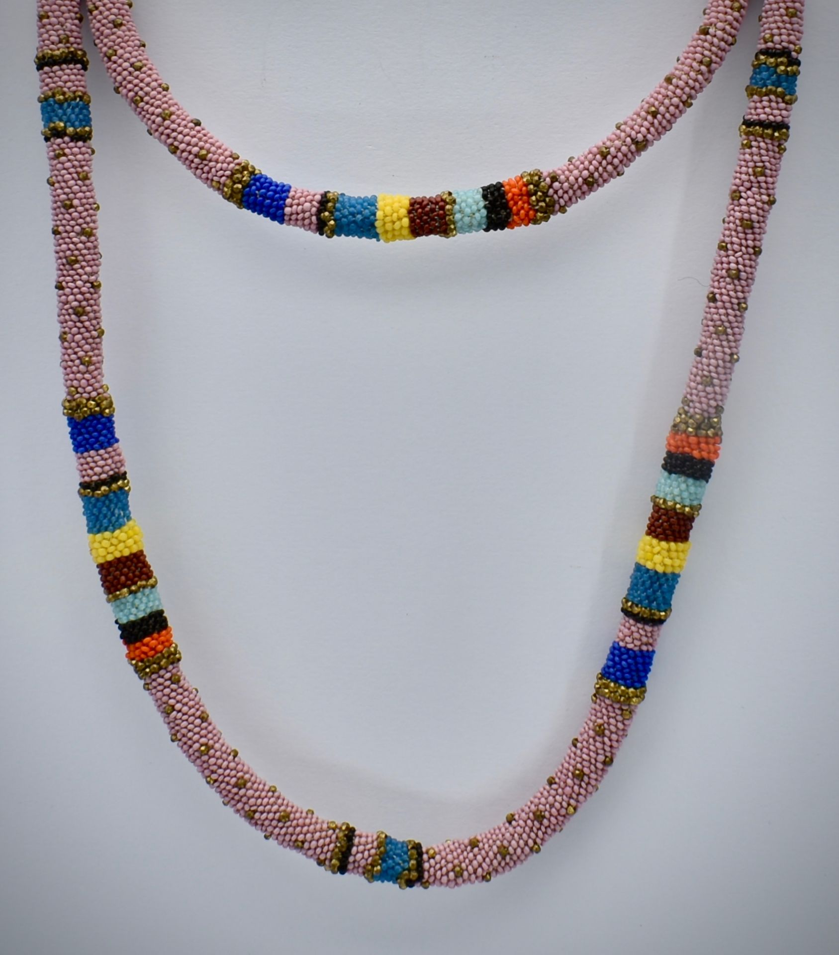 Wiener Werkstätte Micro-Beaded Necklace