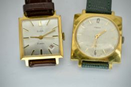 Mid Century Russian Slava 21 Jewels Wristwatch & Pobeda Wristwatch