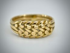 A Victorian 19th Century 18ct Gold Hallmarked Keeper Ring