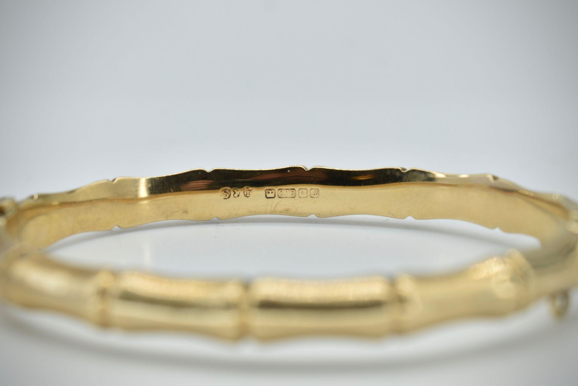 Hallmarked 9ct Gold Bangle - Image 3 of 5