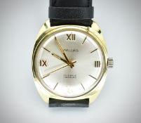 Mid Century Pallas of Switzerland 17 Jewels Incabloc Wristwatch