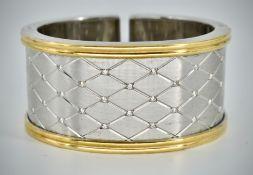 18ct Gold & Diamond Cuff Bangle Bracelet