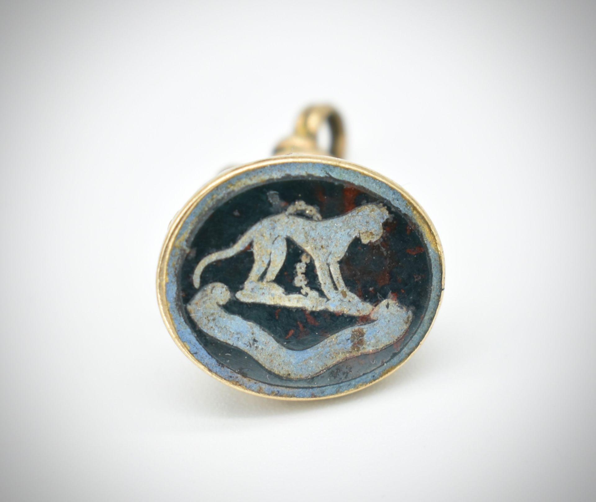 Antique 9ct Gold Intaglio Seal Fob - Image 2 of 7