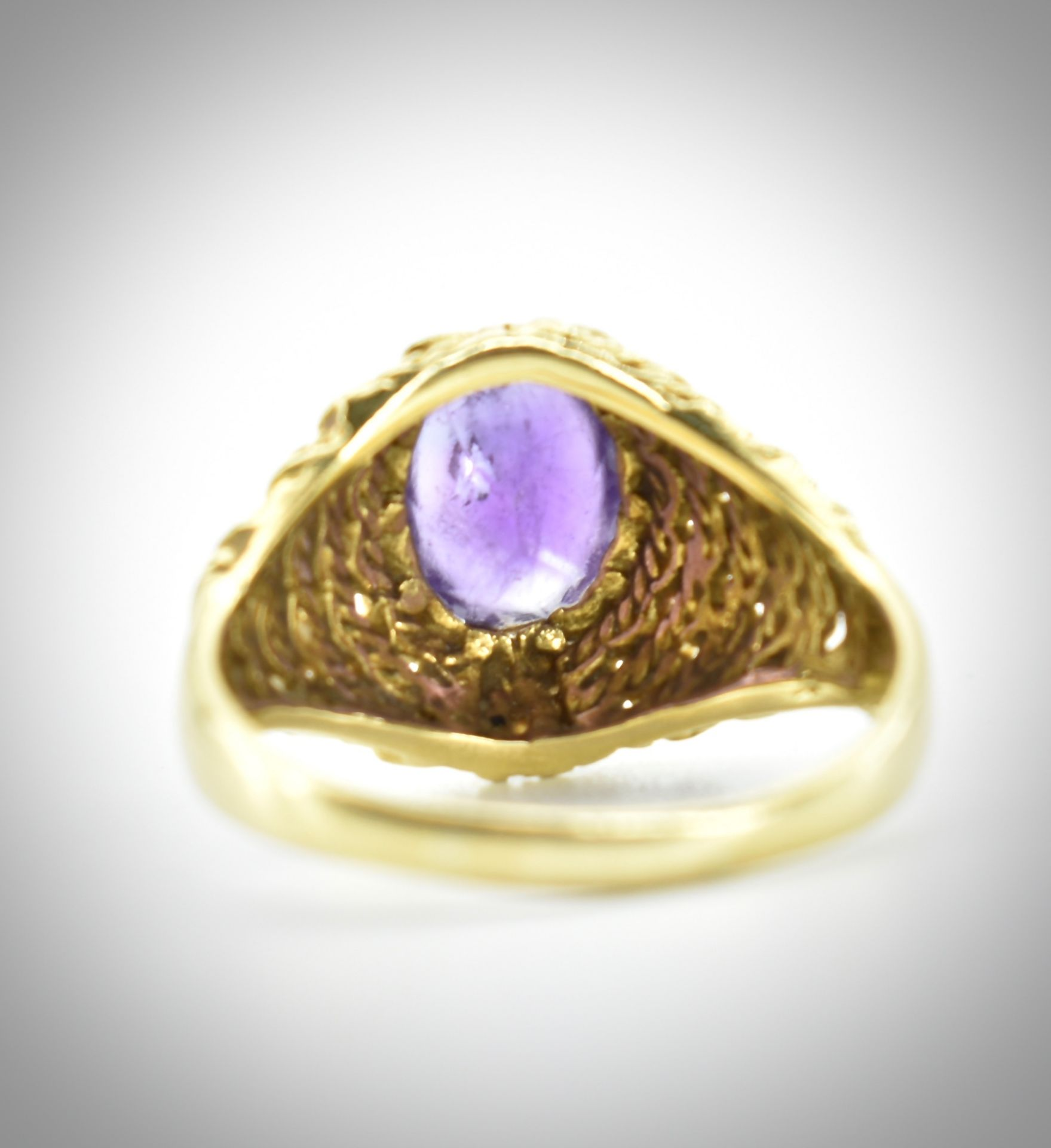 18ct Gold & Amethyst Ring - Image 6 of 7