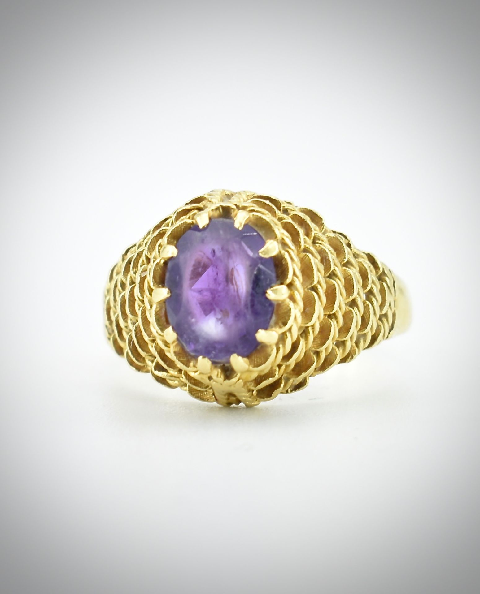 18ct Gold & Amethyst Ring - Image 7 of 7