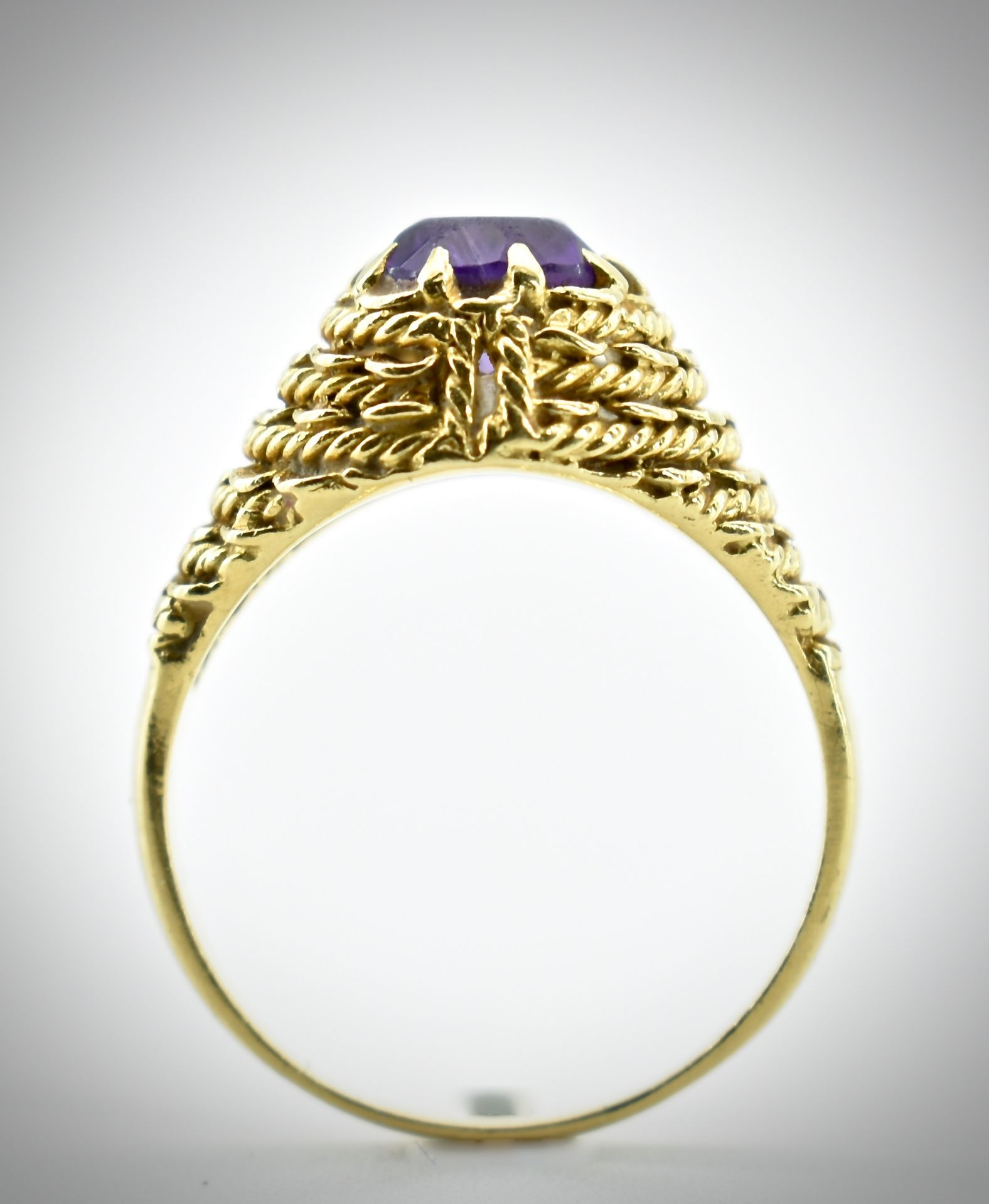 18ct Gold & Amethyst Ring - Image 5 of 7