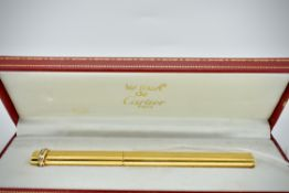 Carter - Must De Cartier Gold Plated Pencil In Presentation Case