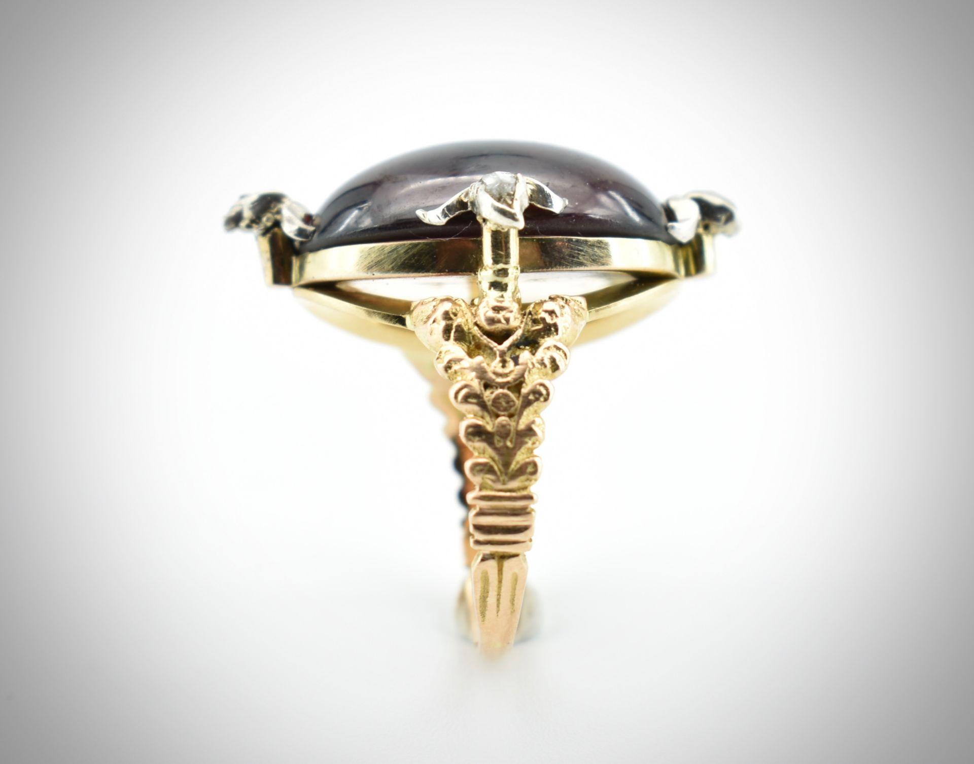 Antique Garnet & Diamond Ring. - Image 3 of 3