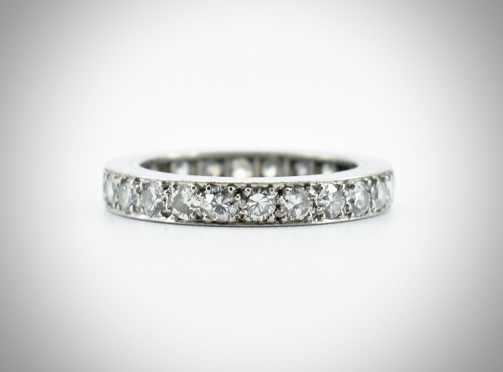 An 18ct Gold Platinum & Diamond Eternity Ring