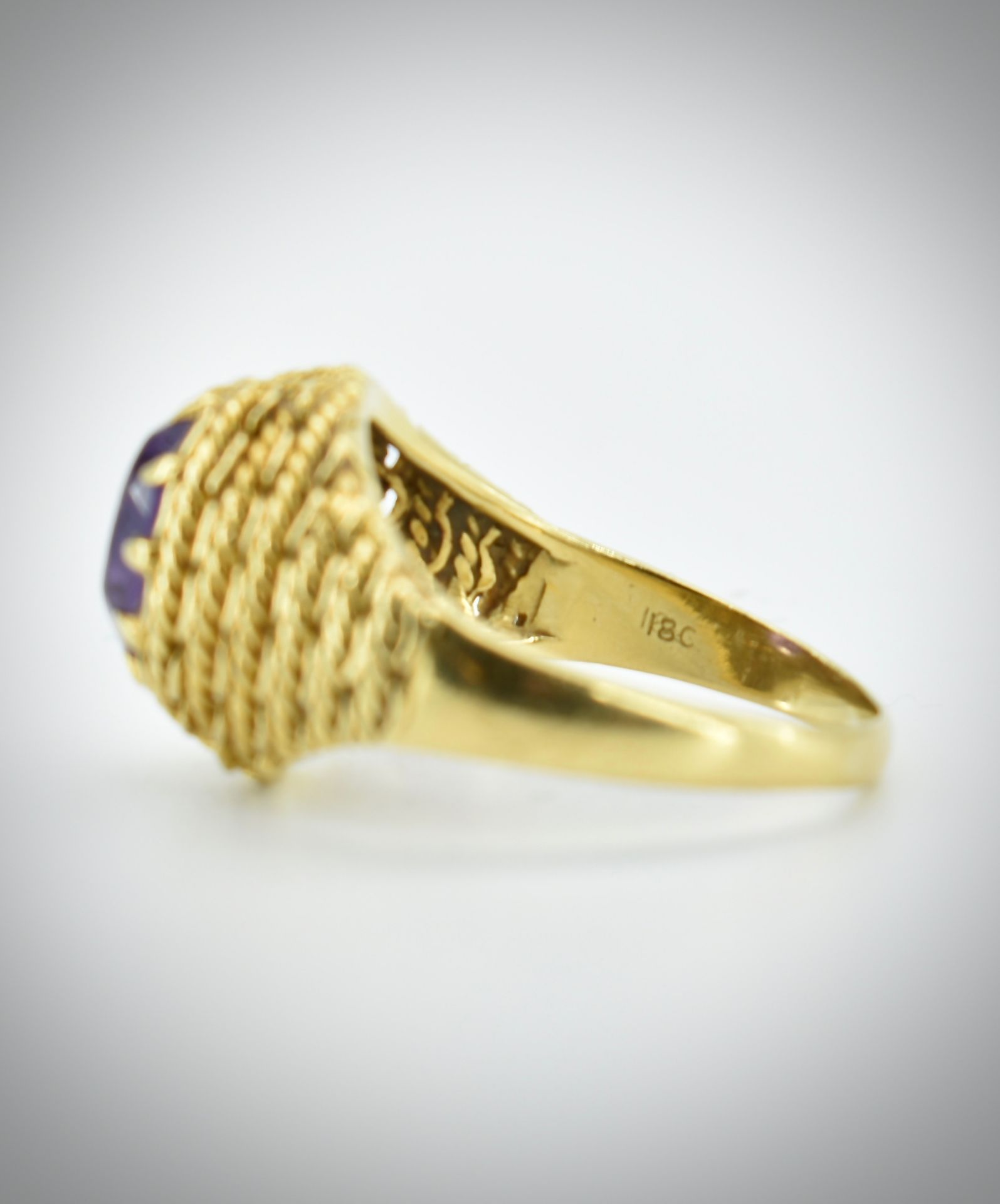 18ct Gold & Amethyst Ring - Image 3 of 7