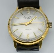 Mid Century House Of Jobin 17 Jewels Incabloc Gents Wristwatch