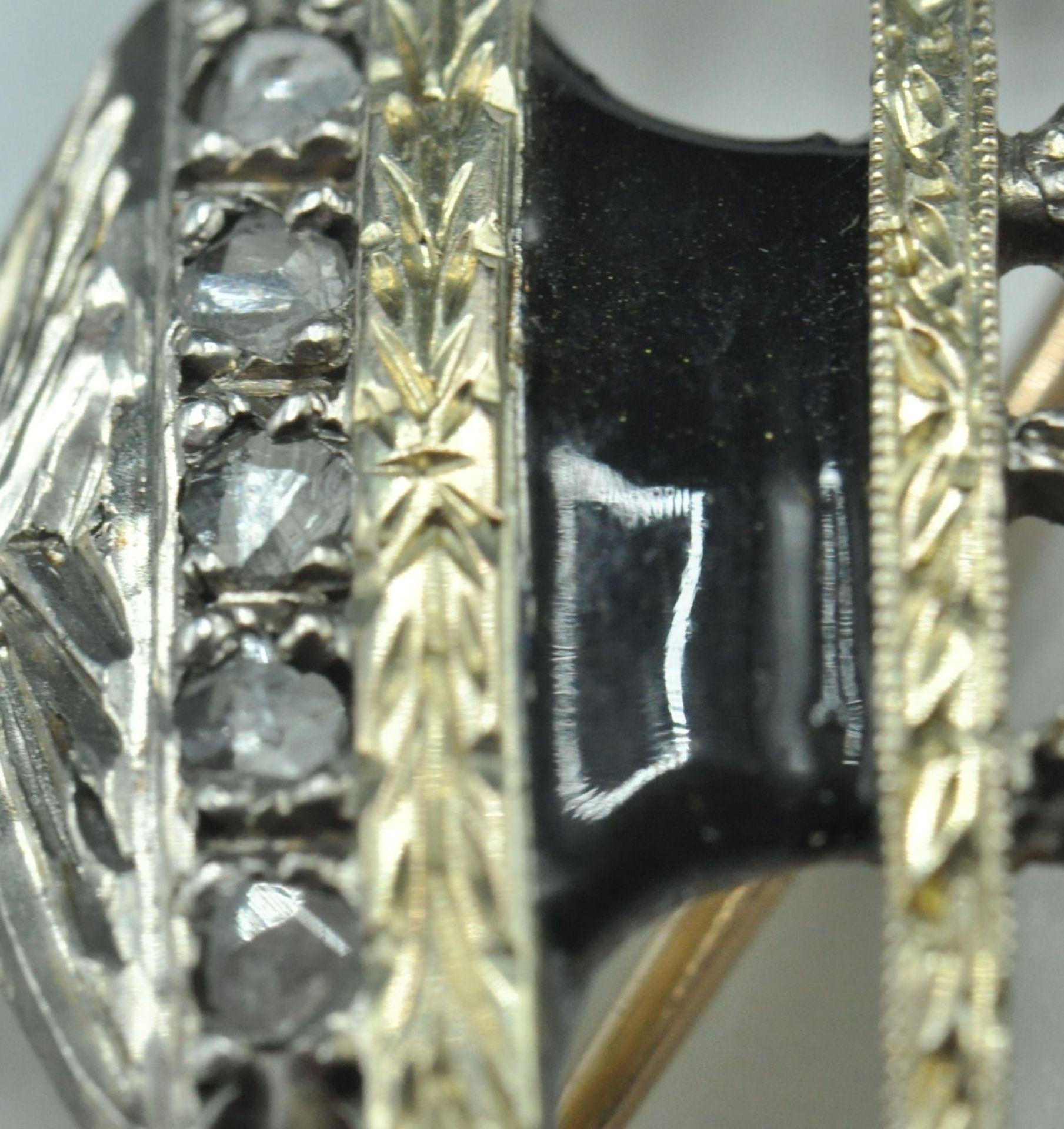 18ct White & Yellow Gold Emerald & Diamond Jardiniere Brooch - Image 5 of 9