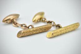 Pair of 15ct Gold Cufflinks