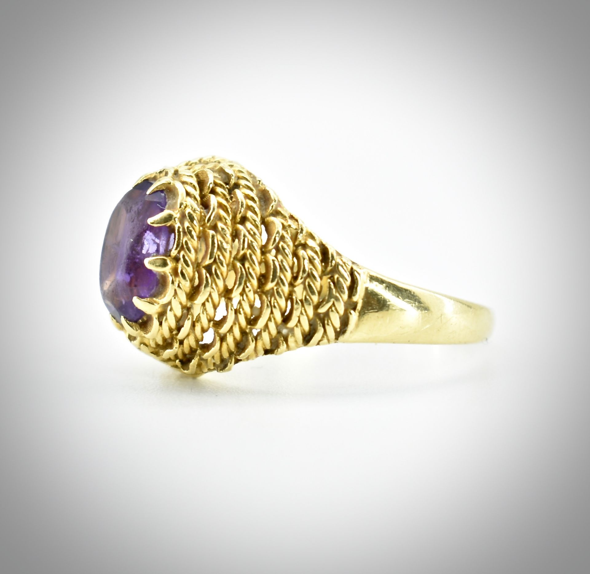 18ct Gold & Amethyst Ring - Image 2 of 7
