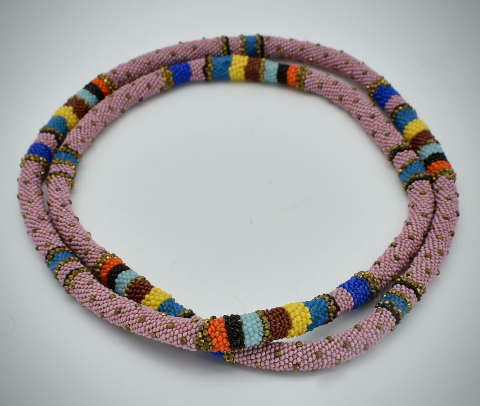 Wiener Werkstätte Micro-Beaded Necklace - Image 2 of 3
