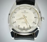 Mid Century Services 17 Jewels Incabloc Gentleman's Wristwatch
