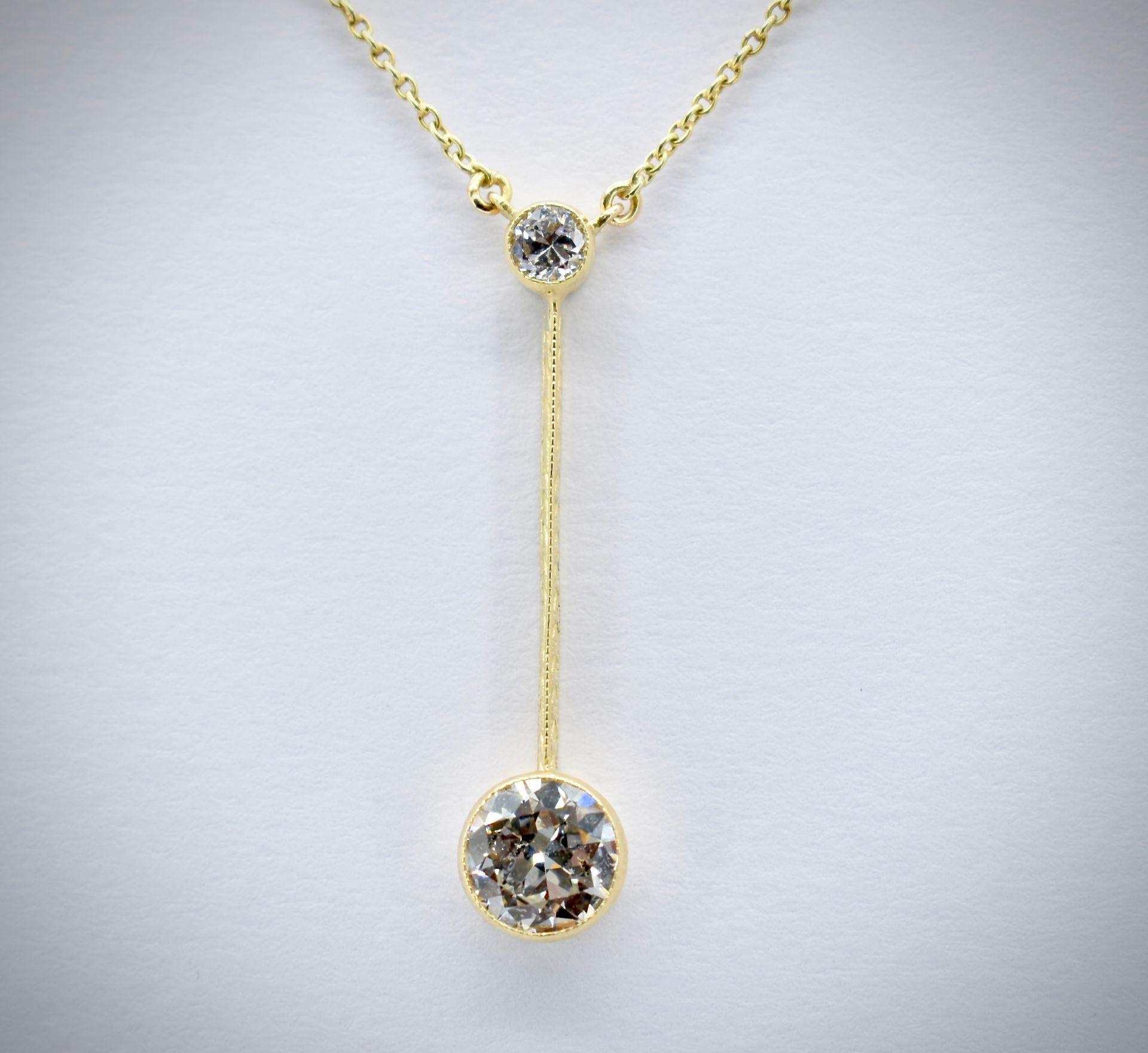 14ct Gold & Diamond Pendant Necklace