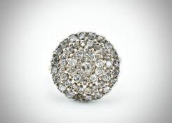 White Gold & Diamond Cluster Rings