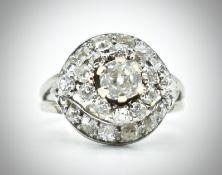18ct Gold Platinum & Diamond Ring