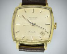 Mid Century Everite Automatic 21 Jewels Shockproof Gents Wristwatch