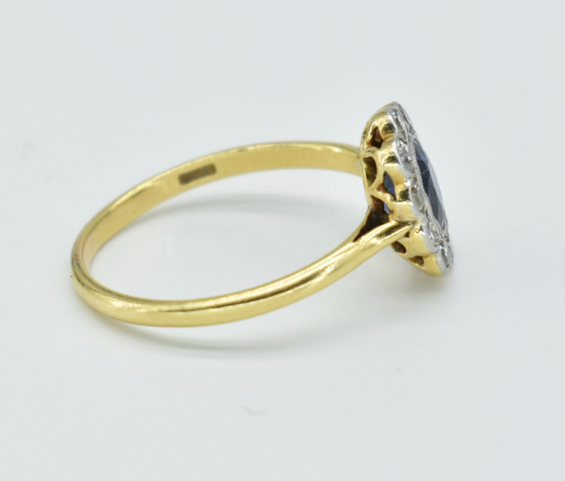 18ct Gold Sapphire & Diamond Cluster Ring - Image 4 of 6