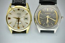 Mid Century Allwyn & Smiths 5 Jewels Gents Wristwatches