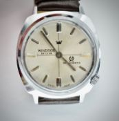 Mid Century Windsor De Luxe Anti Magnetic Gents Wristwatch