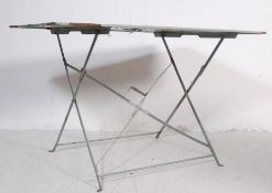 RETRO FRENCH METAL FOLDING CAFE / GARDEN DINING TABLE