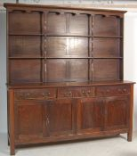 IMPRESSIVE 18TH CENTURY STYLE MAHOGANY KITCHEN DRESSER OF LARGE PROPORTIONS