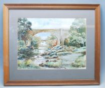 LATE 20TH CENTURY WATERCOLOUR PAINTING OF TWO BRIDGES