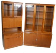 LATE 20TH CENTURY UNIFLEX DISPLAY CABINET SUITE