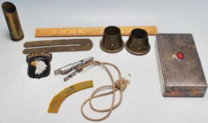 COLLECTION OF ASSORTED MILITARY RELATED ITEMS & COLLECTABLES