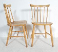PAIR OF 20TH CENTURY ERCOL STYLE DINING CHAIRS